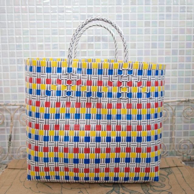 A810 PPバンドのプラカゴ L (黄色×青×黄色×グレー×白)