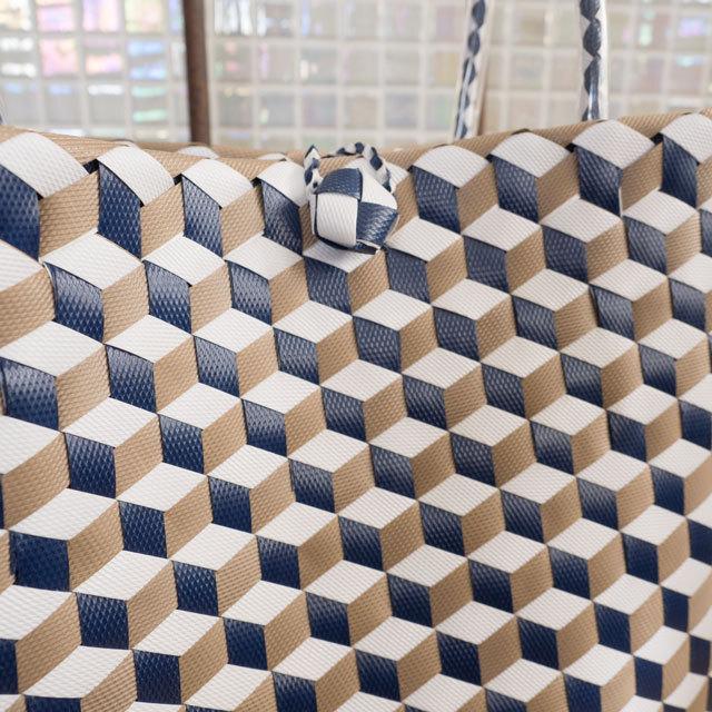 3Dひし形編みのプラかご