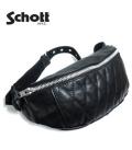 Schott ショット キルティングパッド加工の牛革が高級感あるデザイン!!『パデット ボディバッグ』【アメカジ・バッグ】3109023