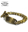 BEAR FOOT BYRON PLATE BRASS BRACELET