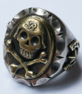 BEAR FOOT MEXICAN RING SKULL&BONE