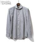 ORGUEIL Blue Stripe Windsor Collar Shirt