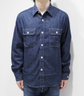 SUGAR CANE 9oz. DENIM WORK SHIRT