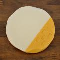 陶器のコースター/橙