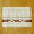 草木染め手織ミンサーテーブルセンター キナリ