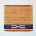草木染め手織ミンサーコースター #08