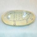 楕円まめ皿 #03 於茂登窯
