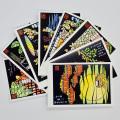 熊谷溢夫の切り絵ポストカード 8枚セット