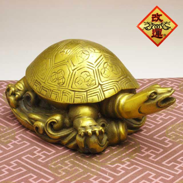 ◆改運◆銅製の亀(大)(f50008)