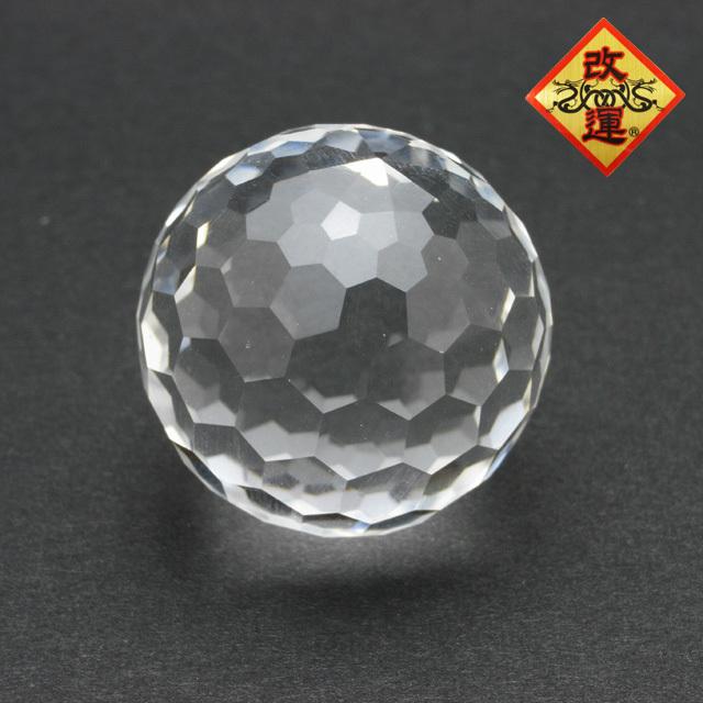 ◆改運◆水晶の多面カットボール(30mm・フックなし)【送料無料】(f50089)