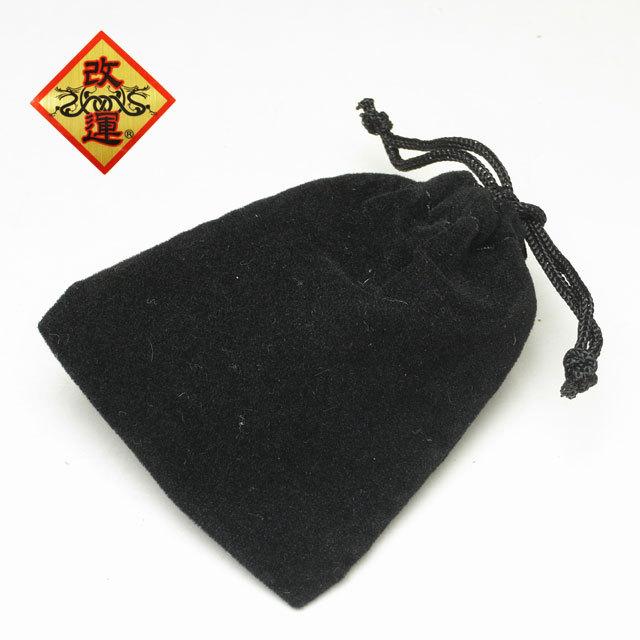 ミニ巾着(黒)【メール便可】(f50242)