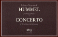 J.N.Hummel トランペット協奏曲 直筆譜