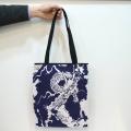 【日本製/京都】和柄手ぬぐいトートバック「龍」(タテ型)hachi.×JAPO-RHYTHM コラボ商品