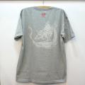半袖和柄Tシャツ「雲龍図」(ミックスグレー)
