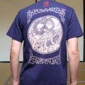 半袖和柄Tシャツ「円相龍図」(紺)