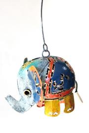 カラフル象のアイアン吊るし飾り