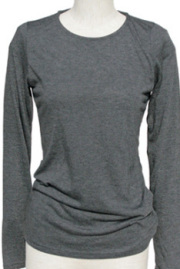 インナー■ポリレーヨン素材のロングTシャツ(グレー)
