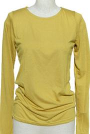 インナー■ポリレーヨン素材のロングTシャツ(マスタード)