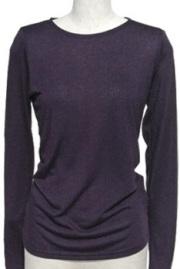 インナー■ポリレーヨン素材のロングTシャツ(パープル)