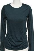 インナー■ポリレーヨン素材のロングTシャツ(ダークグリーン)
