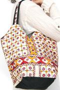 バッグ■両面ミラーワーク刺繍BAG(WHITE02)