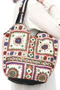 バッグ■両面ミラーワーク刺繍BAG(WHITE03)
