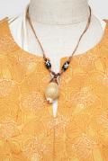 アクセサリー■タカラ貝とひも2連ネックレス