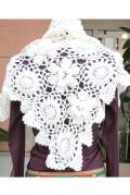 かぎ編みショールアイボリー