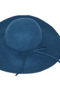 フェルトつば広帽子(ブルー)