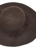 フェルトつば広帽子(ブラウン)