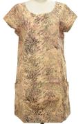 半袖チュニックワンピース ポケット付き(葉柄)