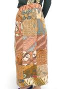 スカート■巻きスカート(バテック柄パッチワーク)