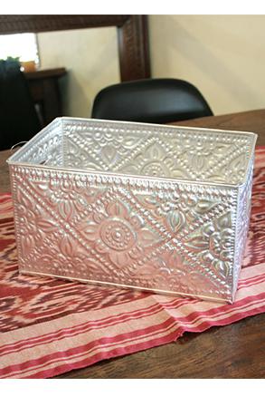 アルミ製持ち手付き収納ボックス