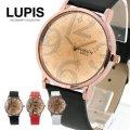 フラワーモチーフフェイスラウンドウォッチ・腕時計(3色あり)