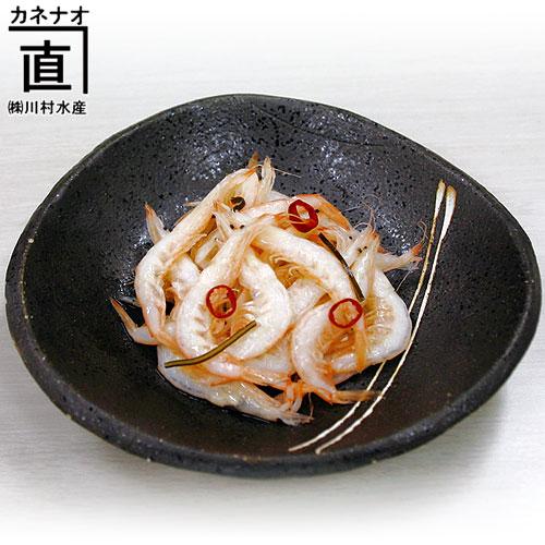富山の名産品・白海老(エビ)甘酢漬けを販売