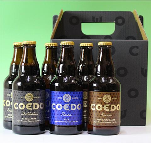 【送料込み】コエドビール3種6本セット専用ギフト箱入り
