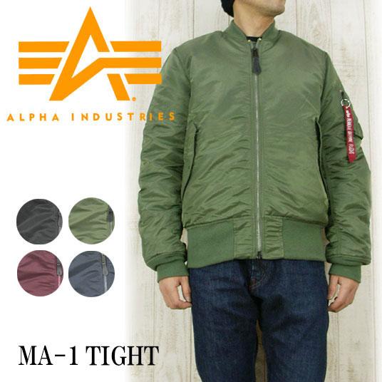 ALPHA アルファ MA-1 タイト  フライトジャケット   ALP-20004 【秋冬アウター】 -JOE-