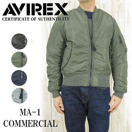 AVIREX アヴィレックス MA-1 COMMERCIAL  AV-6132077 【秋冬アウター】 -JOE-