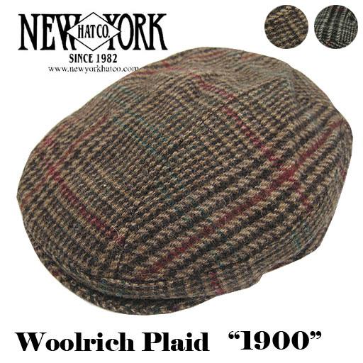 NEW YORK HAT ニューヨークハット ウールリッチ プレイド 1900 Woolrich Plaid 1900 NH-9017 -JOE-
