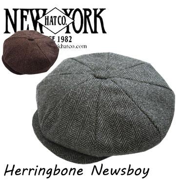 THE NEW YORK HAT&CAP Co. ニューヨークハット ヘリンボーン ニュースボーイ  キャスケット HERRINGBONE NEWSBOY 9038 -JOE-