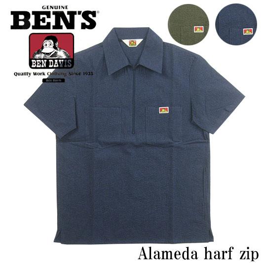 ベンデイビス ハーフジップシャツ