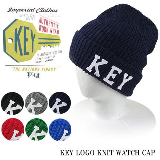 KEY INDUSTRIES キー インダストリーズ KEYロゴ ワッチキャップ KE9103 -JOE-