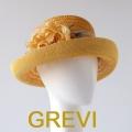 【greviストロー】ストローハット 花 コサージュ フラワー リボン グレヴィの麦わら帽子 イタリア直輸入ハット UV帽子 紫外線防止 フィレンツェ★送料無料