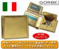 ゴルベ ゴールドイタリアンレザー二つ折り財布 / GORBE