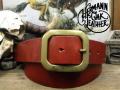 アメリカ製ハーマンオークレザーベルト【レッドブラウン】38mm/選るバックル付ベルトお買い得セット