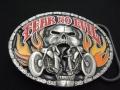 バックル SKG9E Fear No Evil Skull/Motorcycle