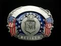 バックル Military SKU6E US Air Force Retired