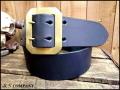 栃木オイル多脂革レザーベルト【ベルトカラーが選べる】50mm /314ギャリソンダブルピン真鍮バックル付
