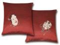 最高級 紬織り 絵羽織 伝統 座布団カバー
