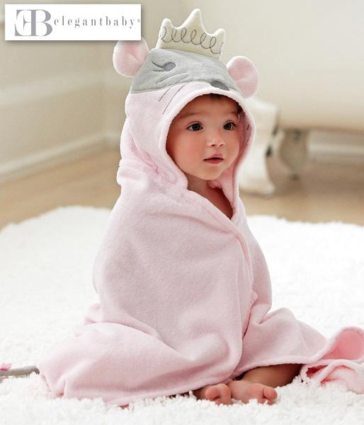 【ベビー・キッズ】Elegantbabyエレガントベビー・ラブリーマウスバスラップ(コットン100%)~名入れ可、出産祝い他ギフトにも~